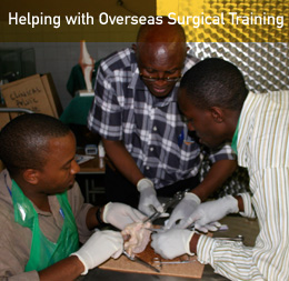 Helping with Overseas Surgical Training